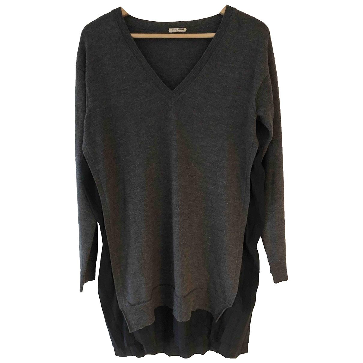 Miu Miu \N Anthracite Wool Knitwear for Women 42 IT
