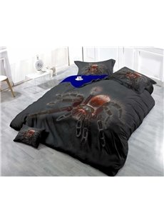 Big Spider Wear-resistant Breathable High Quality 60s Cotton 4-Piece 3D Bedding Sets