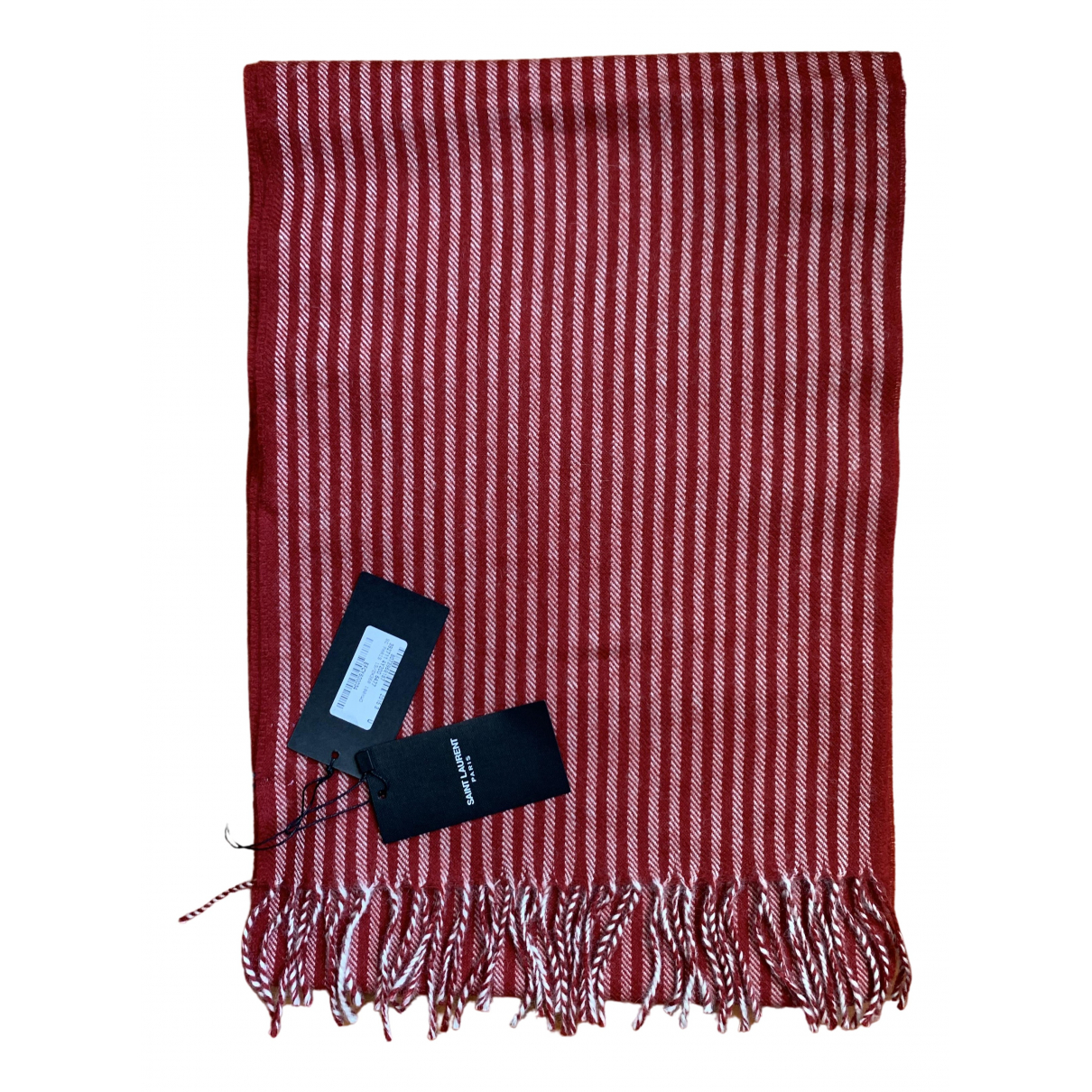 Saint Laurent \N Red Wool scarf for Women \N