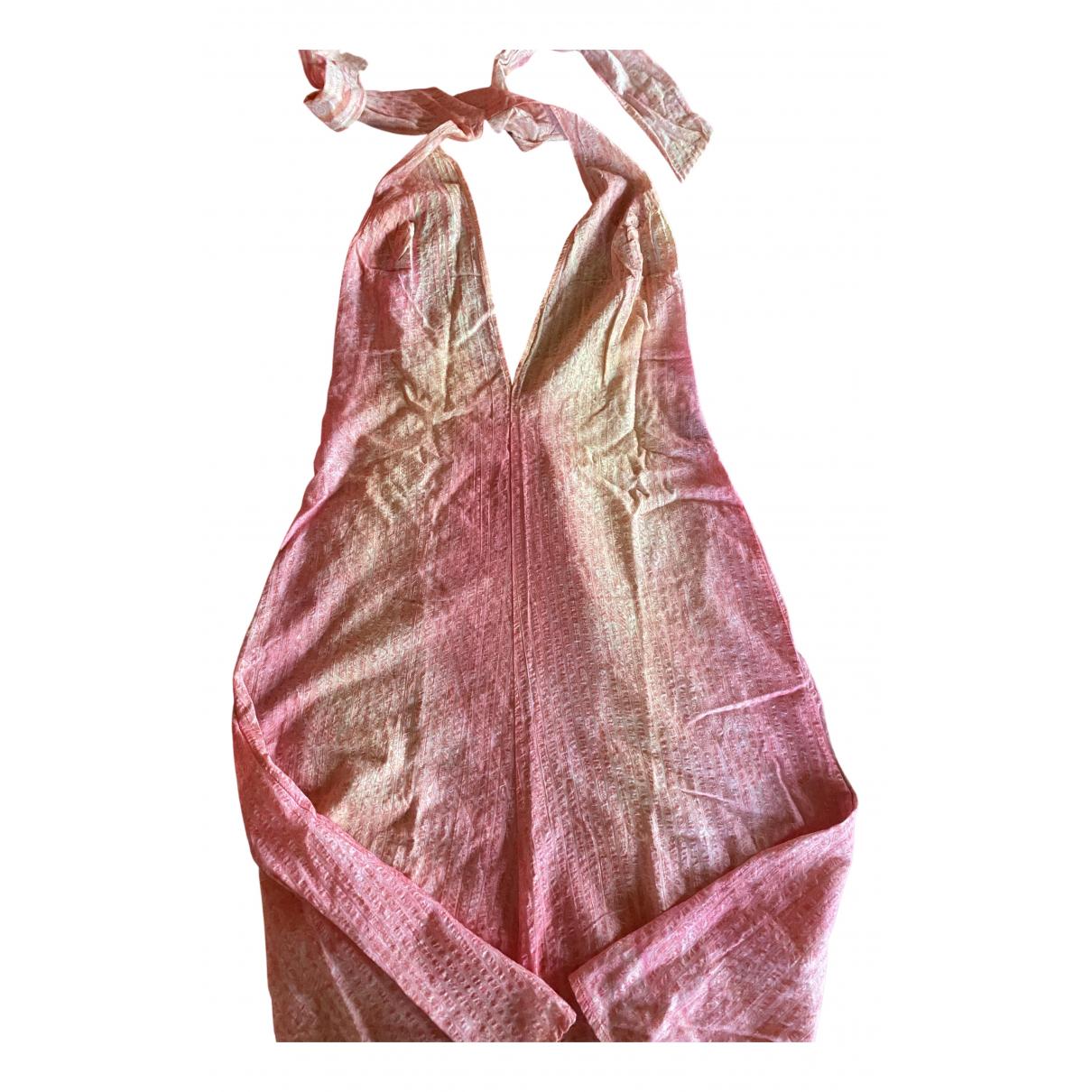 Diesel - Robe   pour femme en coton - rose