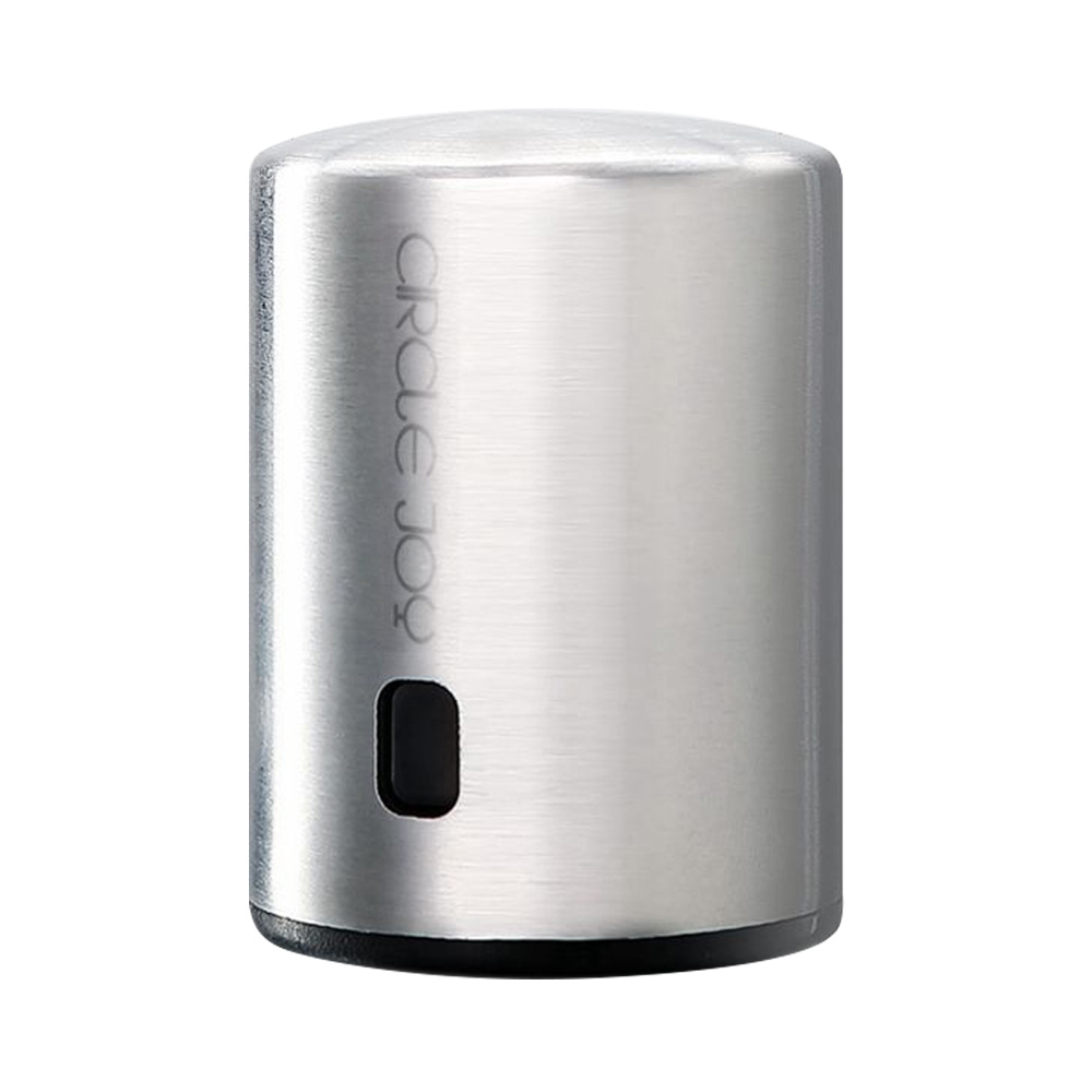 Xiaomi Circle Joy Stainless Steel Sealed Vacuum Wine Stopper Efficient Preservation 304 Stainless Steel Store Date - Silver