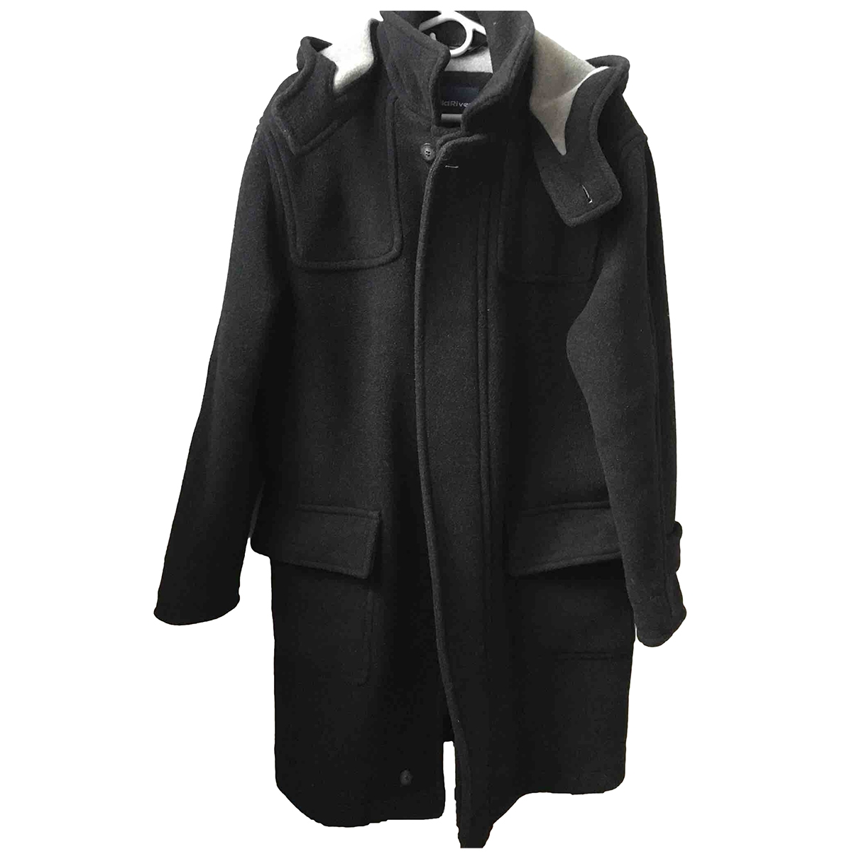Non Signé / Unsigned Oversize Anthracite Wool coat  for Men L International