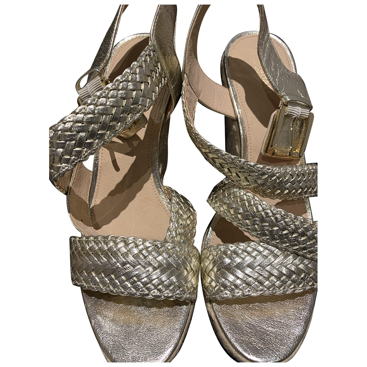 Michael Kors \N Gold Leather Sandals for Women 9.5 US