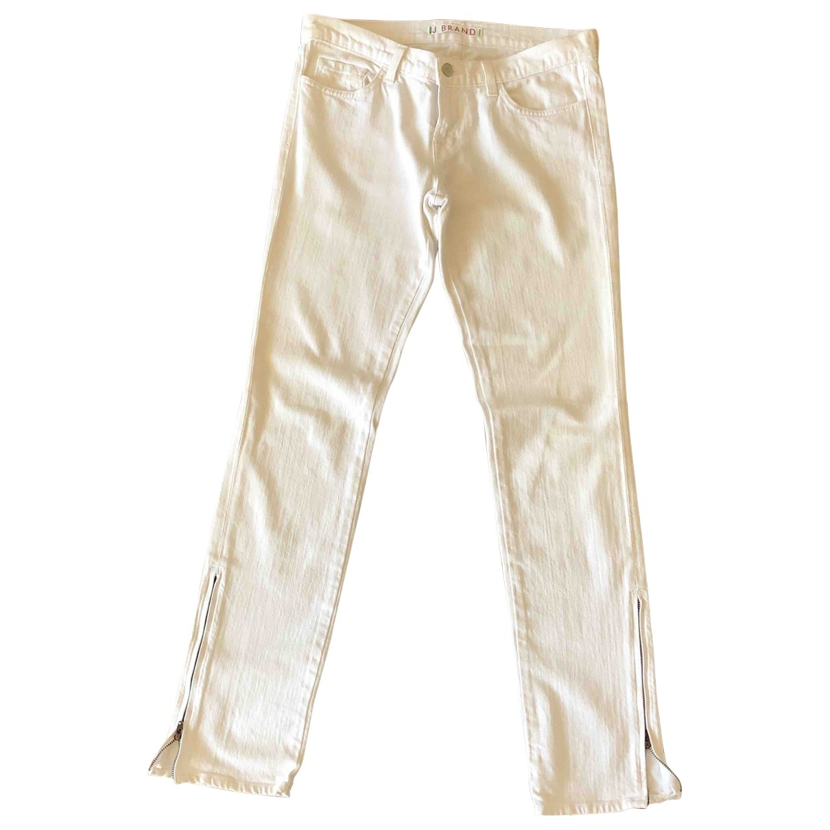 J Brand \N White Cotton Jeans for Women 28 US