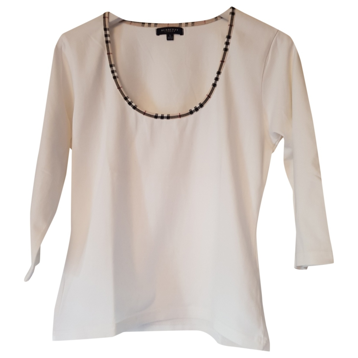 Burberry \N White Cotton  top for Women L International