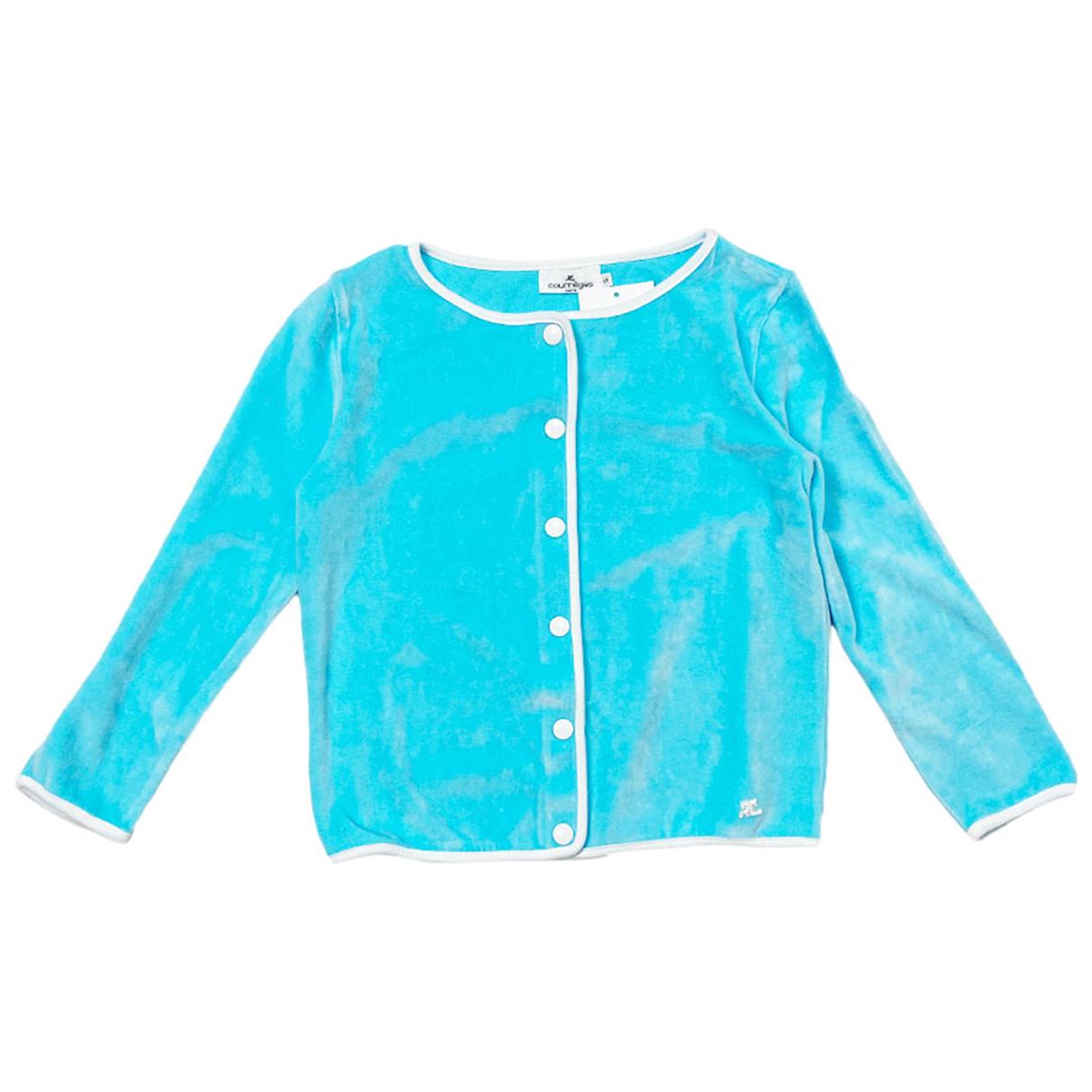 Courrèges \N Blue Cotton Knitwear for Women 36 FR
