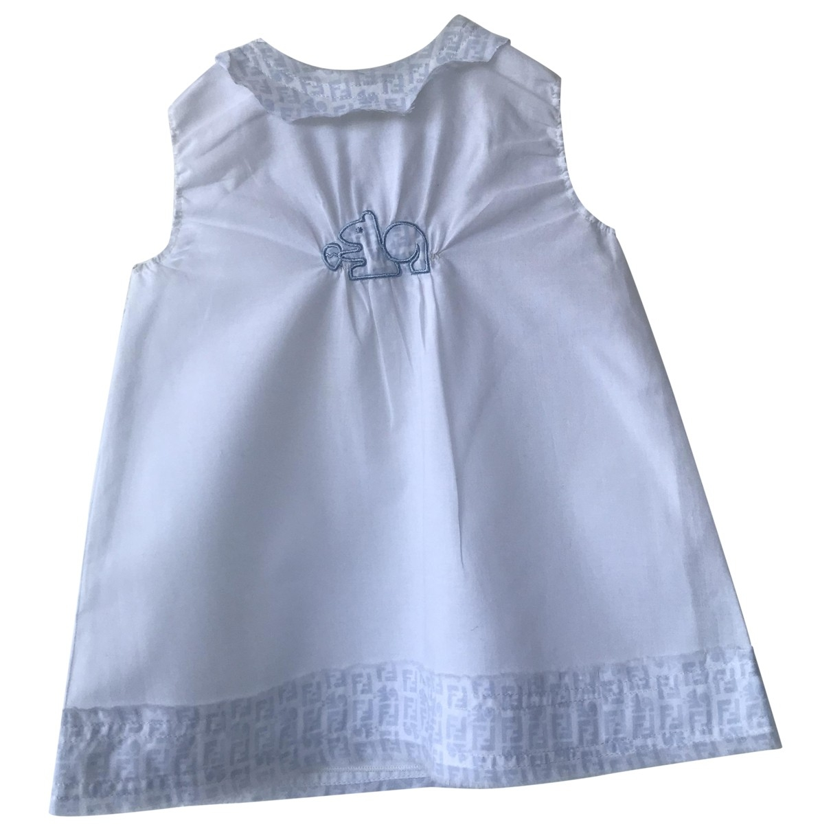 Fendi \N White Cotton dress for Kids 3 months - up to 60cm FR
