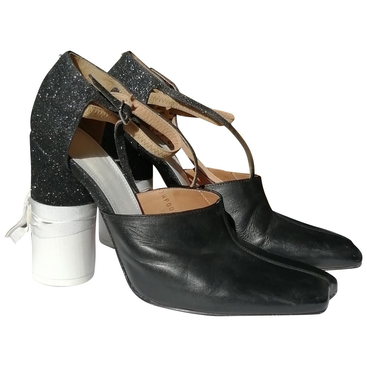 Maison Martin Margiela \N Black Leather Heels for Women 38 EU