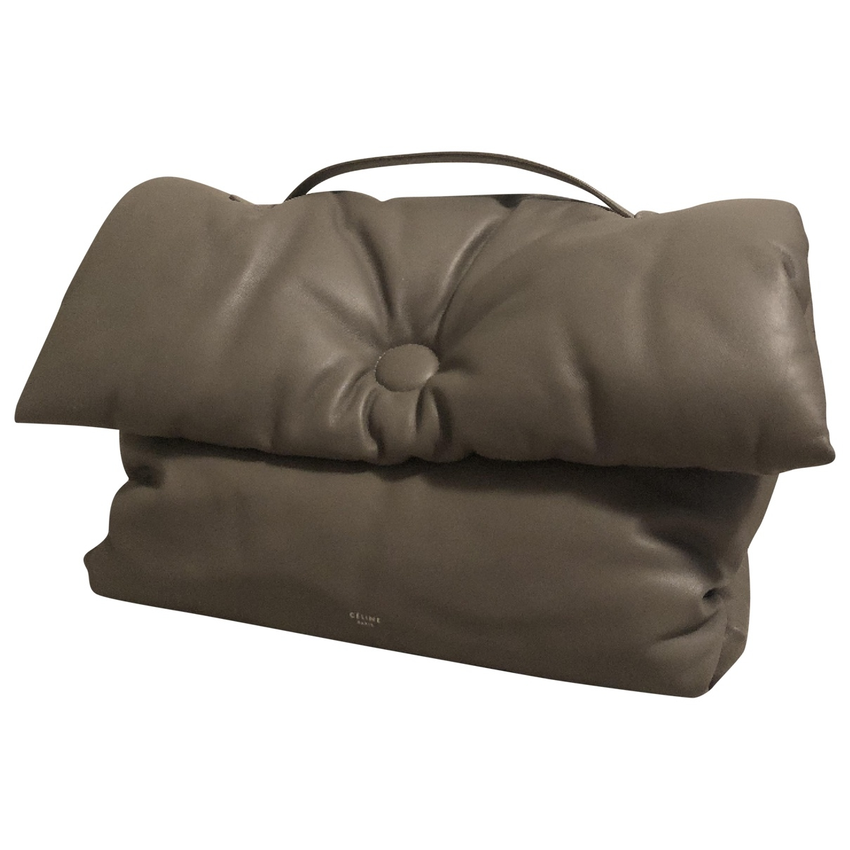 Celine Pillow Bag Grey Leather handbag for Women \N
