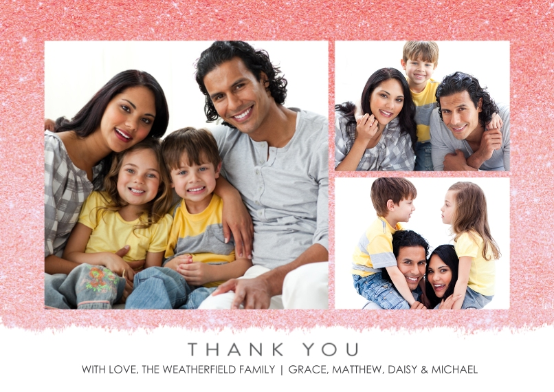 Thank You Cards Mail-for-Me Premium 5x7 Flat Card, Card & Stationery -Thank You Glitter by Tumbalina