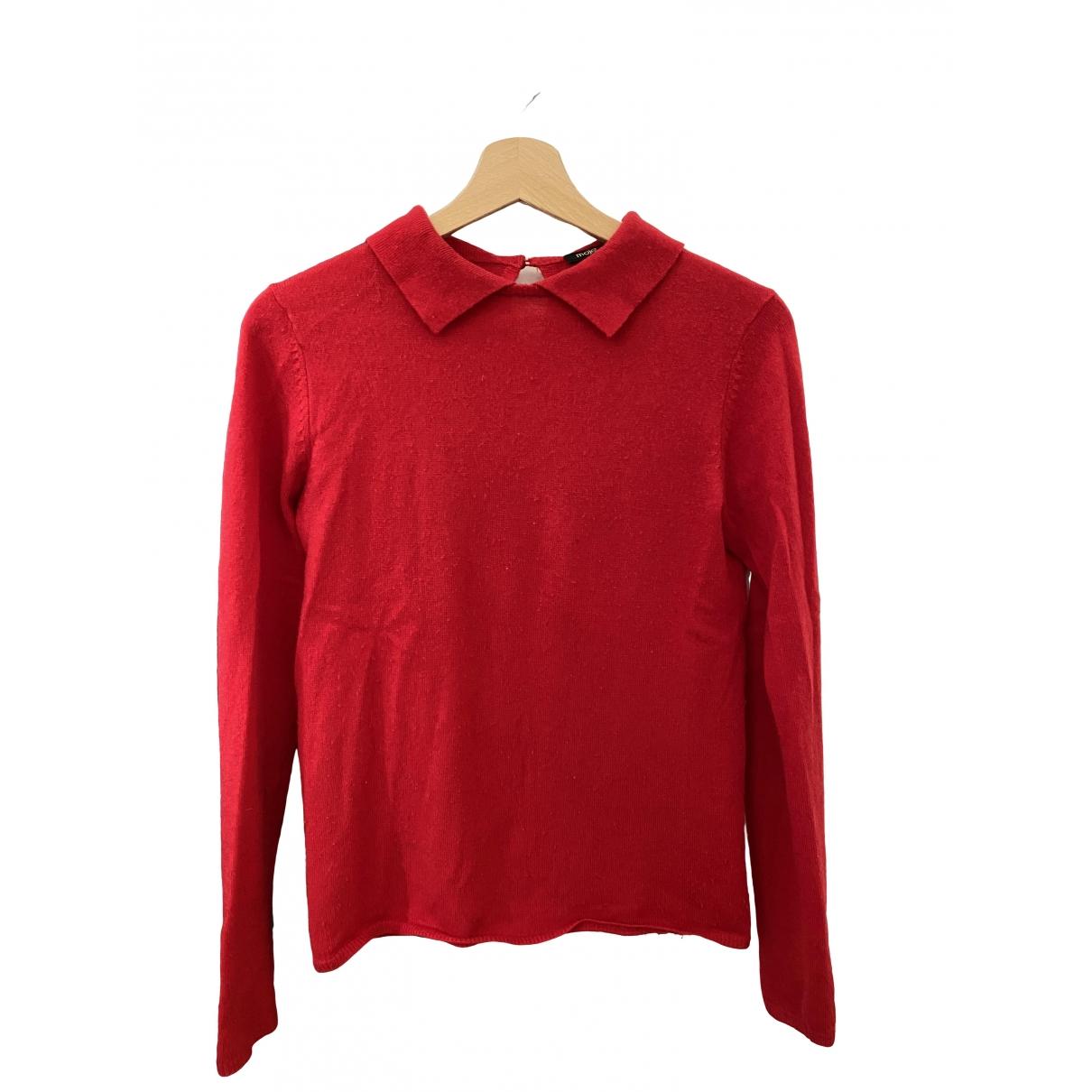 Maje \N Red Wool Knitwear for Women 2 0-5