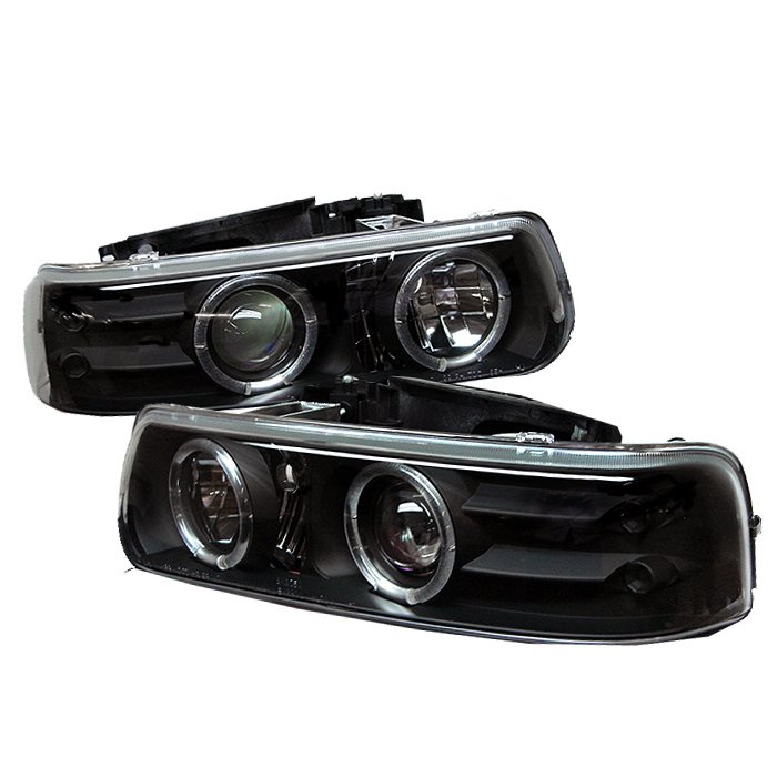 Spyder Halo LED Black Projector HeadLights Chevrolet Suburban 1500 2500 00-06 Chevrolet Tahoe 00-06