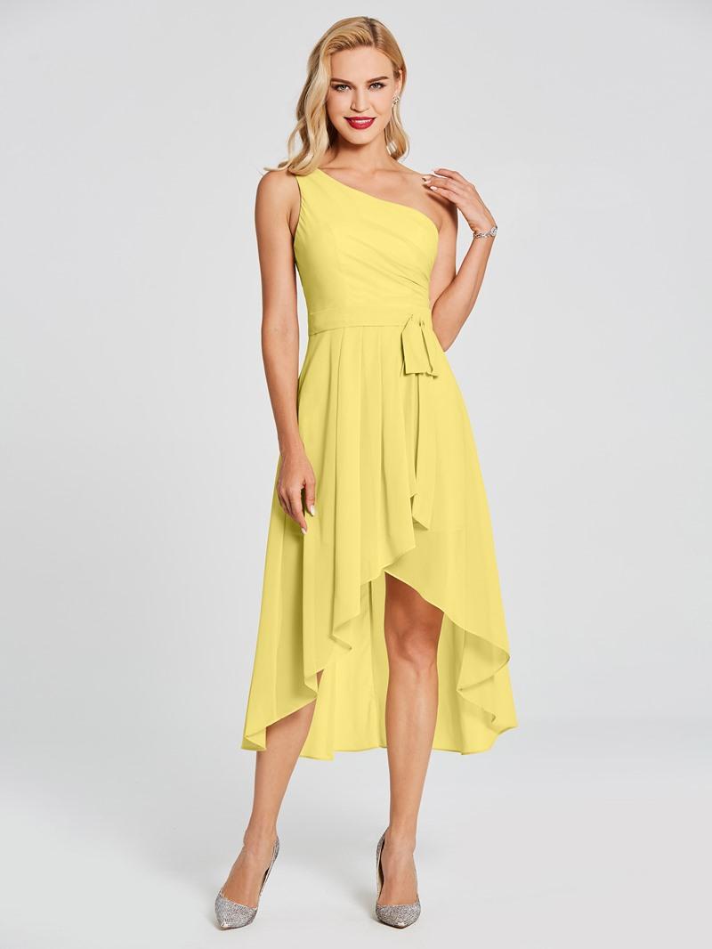 Ericdress One Shoulder High Low Beach Bridesmaid Dress