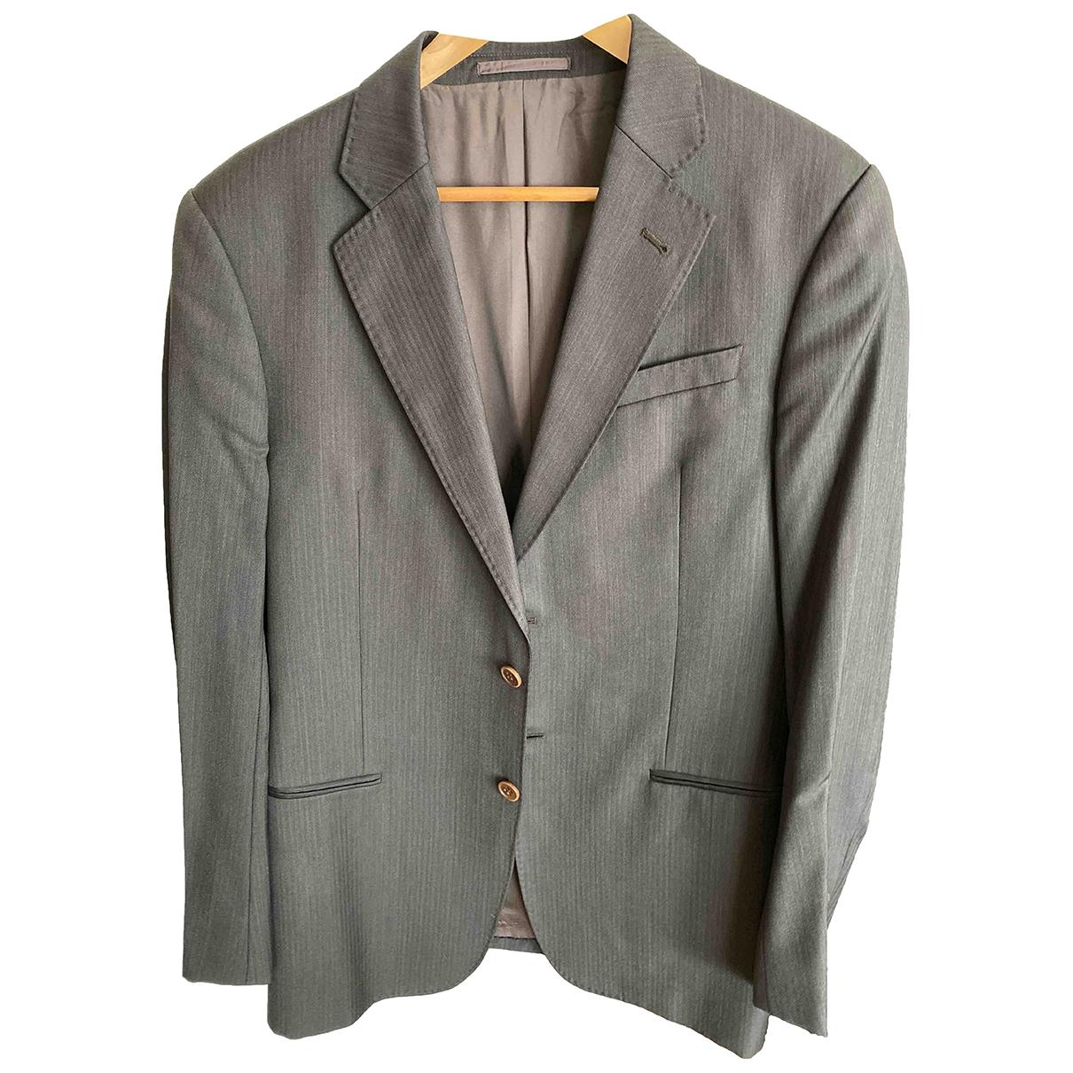 Armani Collezioni \N Brown Wool jacket  for Men 50 IT