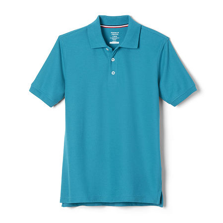 French Toast Little & Big Boys Short Sleeve Polo Shirt, X-large , Blue