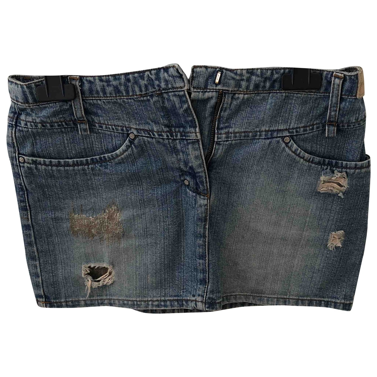 Patrizia Pepe \N Blue Denim - Jeans skirt for Women 42 IT