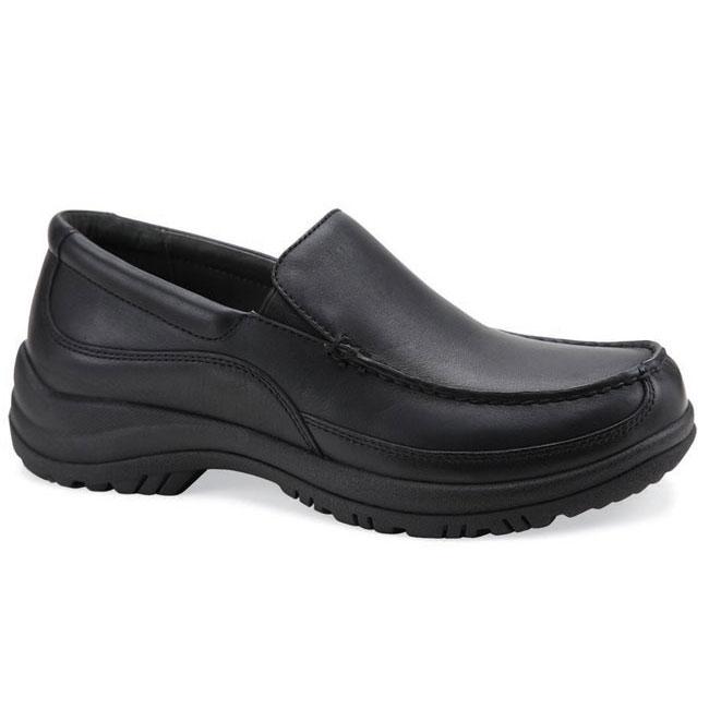 Dansko Wayne Black Leather Slip-Resistant 47