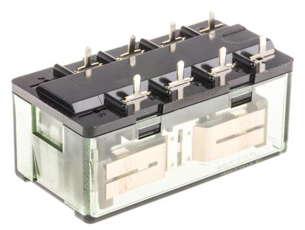 Panasonic DPDT Non-Latching Relay PCB Mount, 12V dc Coil, 15 A