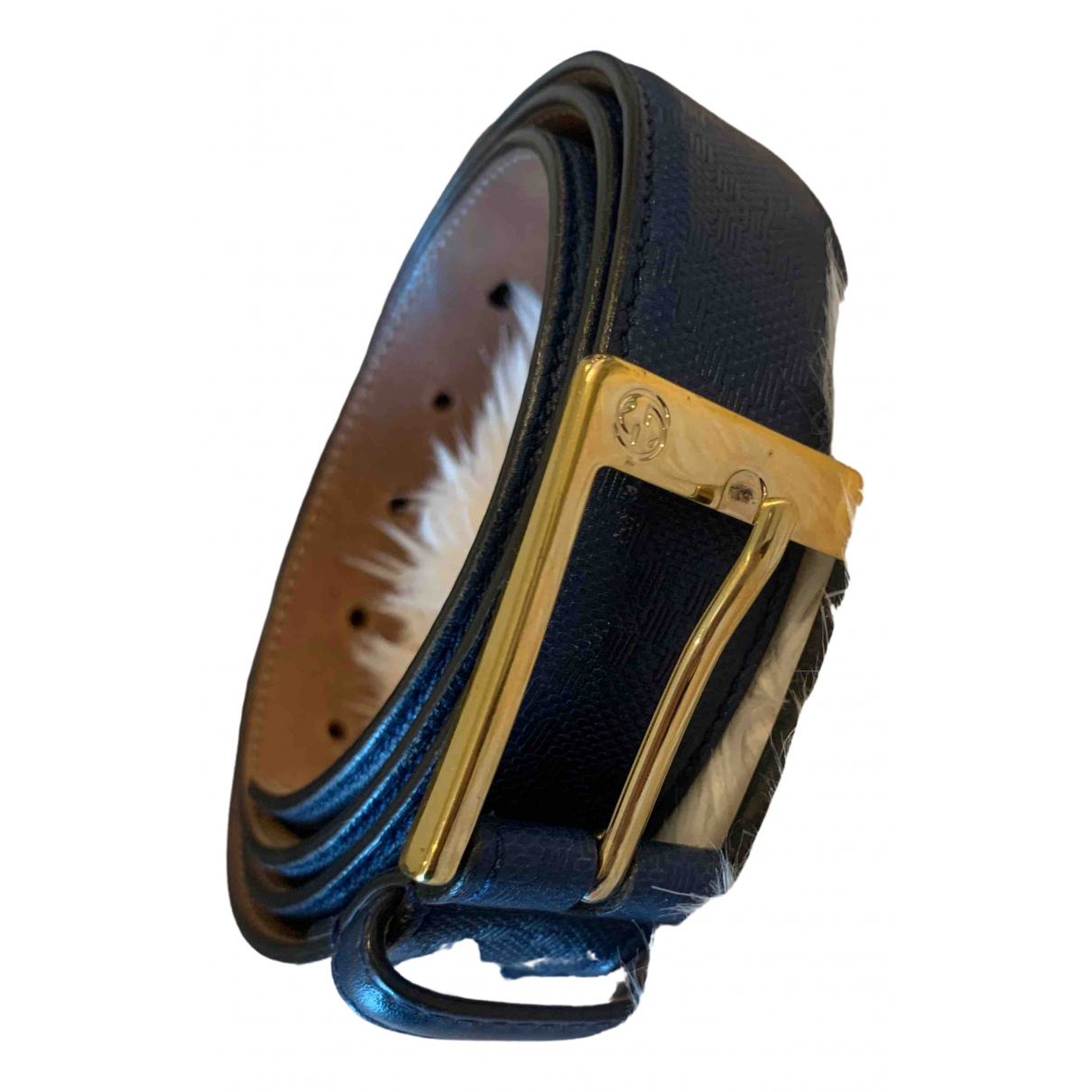 Gucci \N Navy Leather belt for Men 100 cm