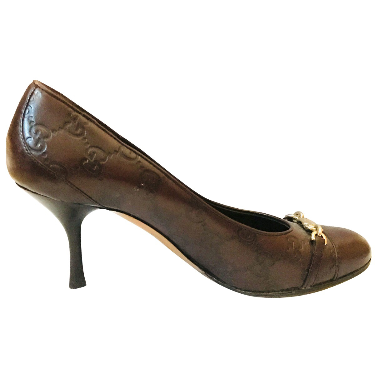 Gucci \N Brown Leather Heels for Women 36.5 EU