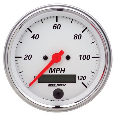 Auto Meter Arctic White Electric Programmable Speedometer, 3 3/8 Inch - AMG1380