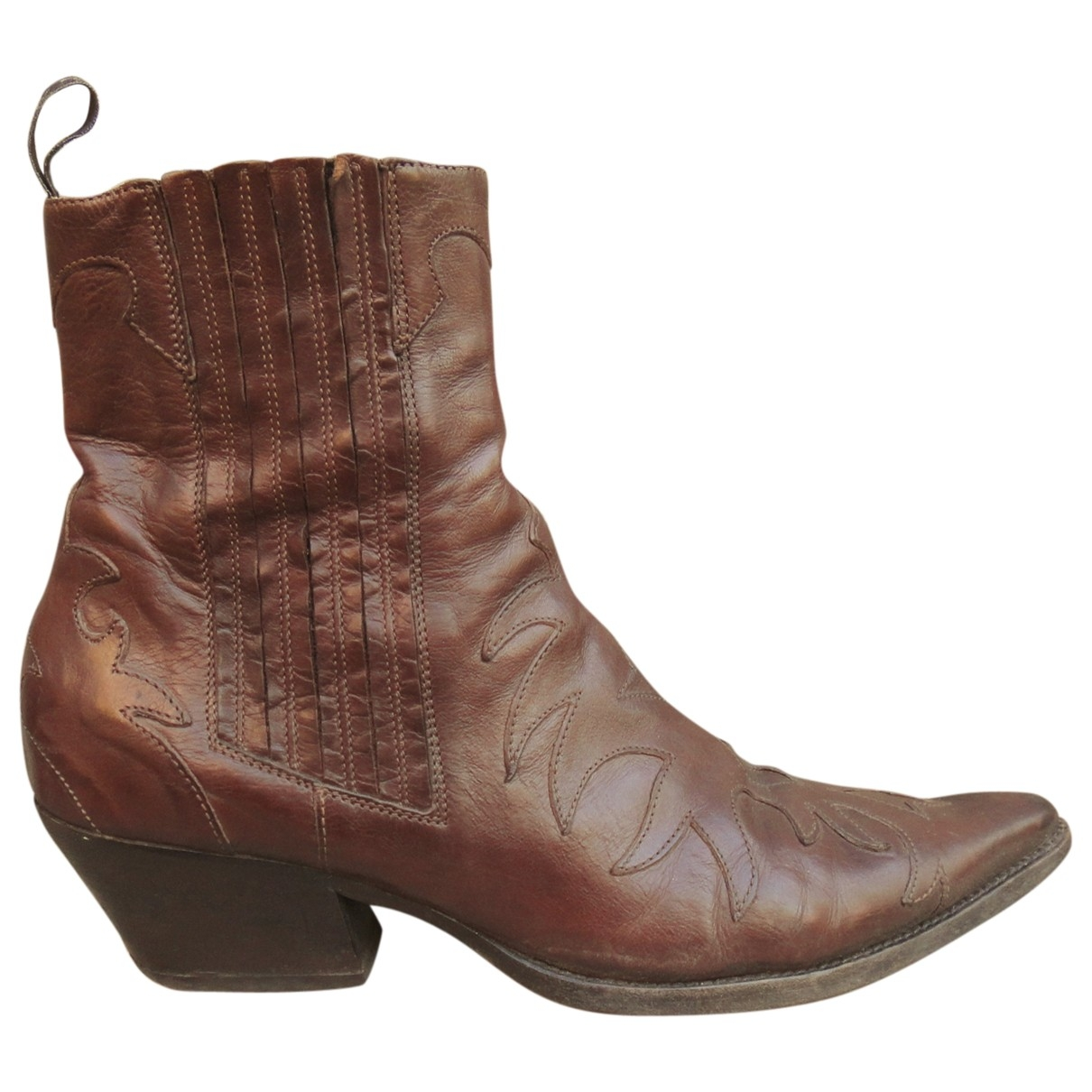 Sartore \N Brown Leather Ankle boots for Women 39 IT