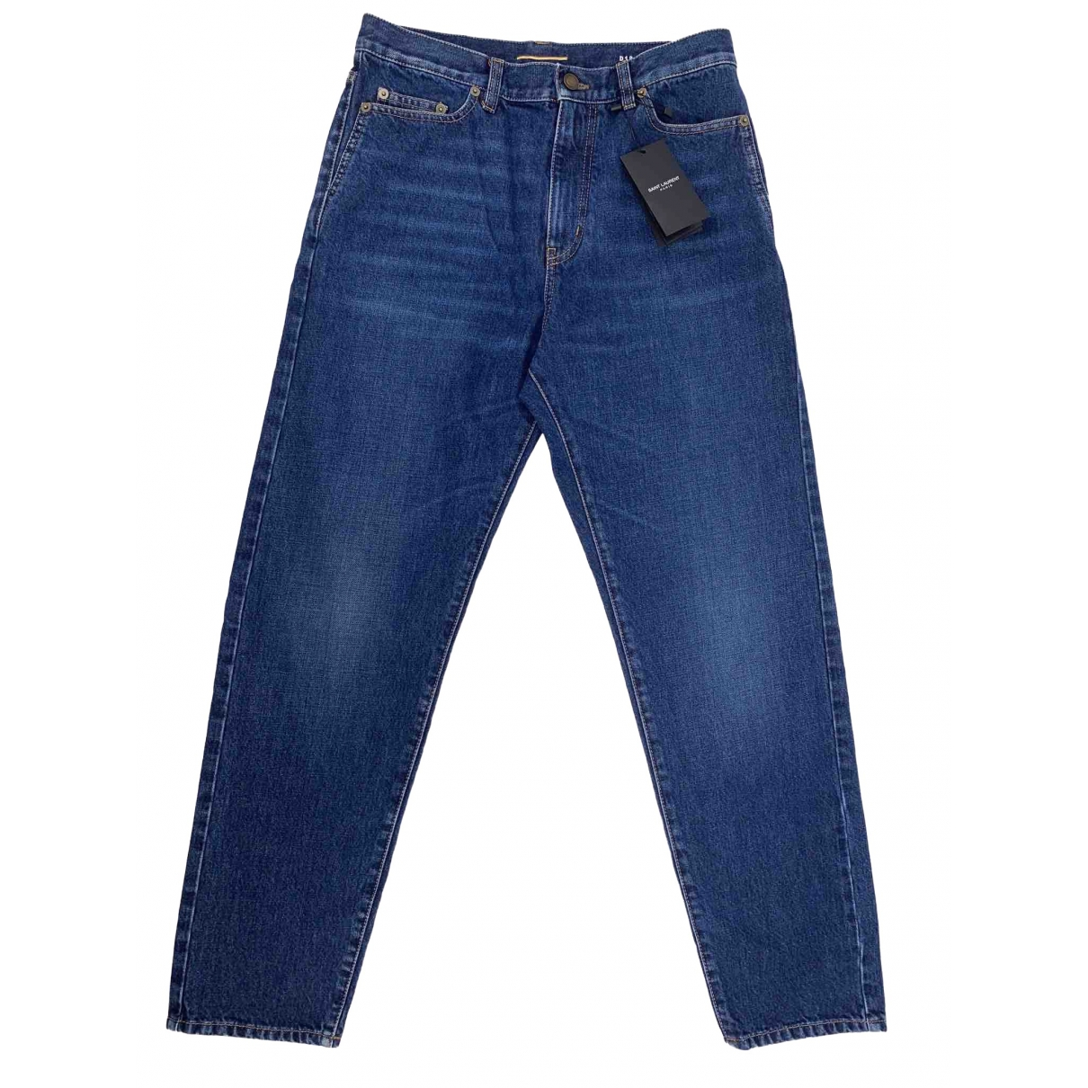 Saint Laurent \N Blue Denim - Jeans Jeans for Women 30 US