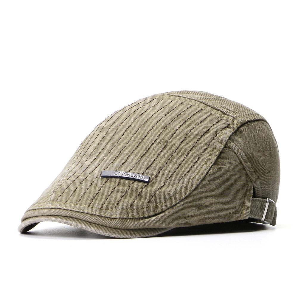 Mens Womens Summer Cotton Vogue Beret Cap Duck Hat Sunshade Casual Outdoors Peaked Forward Cap