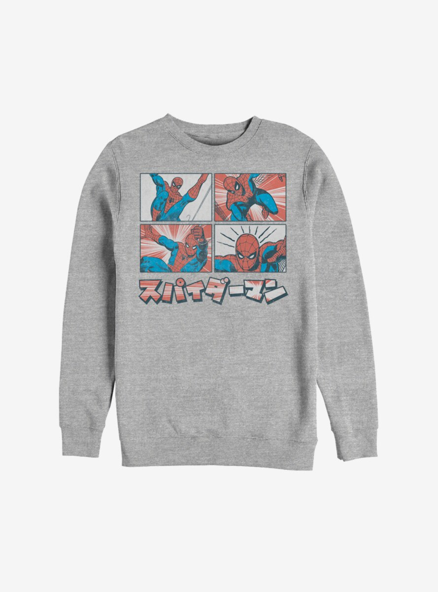 Marvel Spider-Man Comic Boxes Sweatshirt