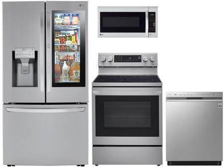 4 Piece Kitchen Appliances Package with LRFVS3006S 36