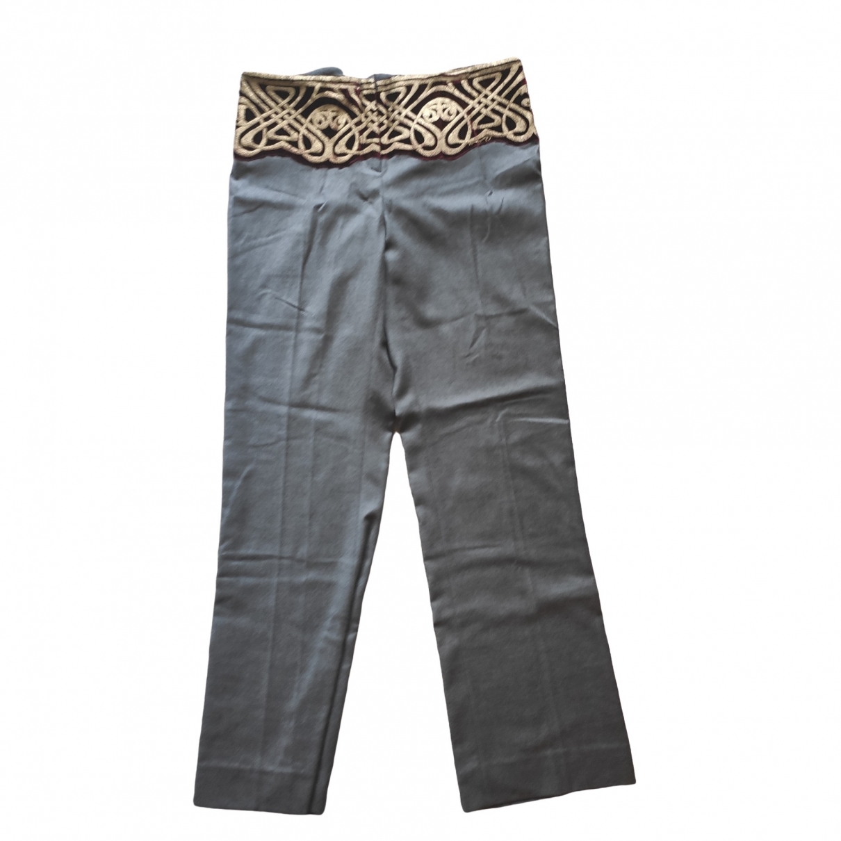 Roberto Cavalli \N Grey Denim - Jeans Trousers for Women 46 FR