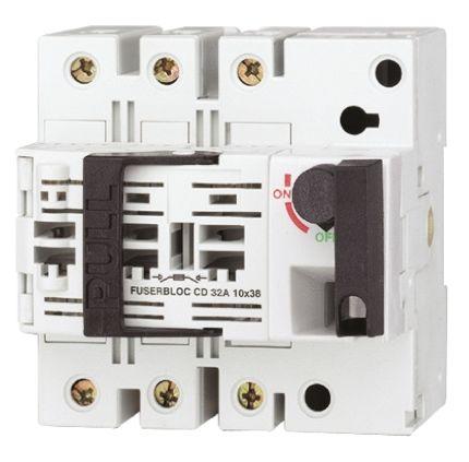 Socomec 32 A 3P + N Fused Isolator Switch, 10 x 38 mm Fuse Size