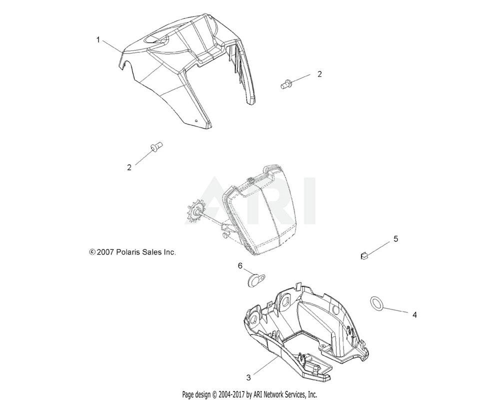 Polaris OEM 5436917-402 Pod, Headlight, Lower, Snap, Silver | [AW]