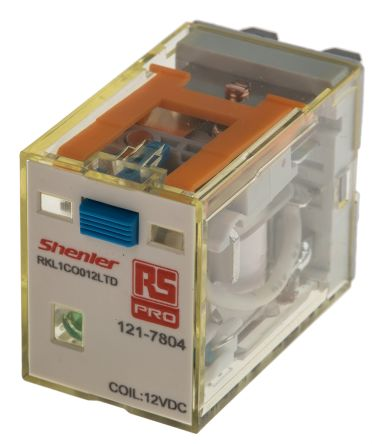 RS PRO , 12V dc Coil Non-Latching Relay SPDT, 16A Switching Current Plug In Single Pole