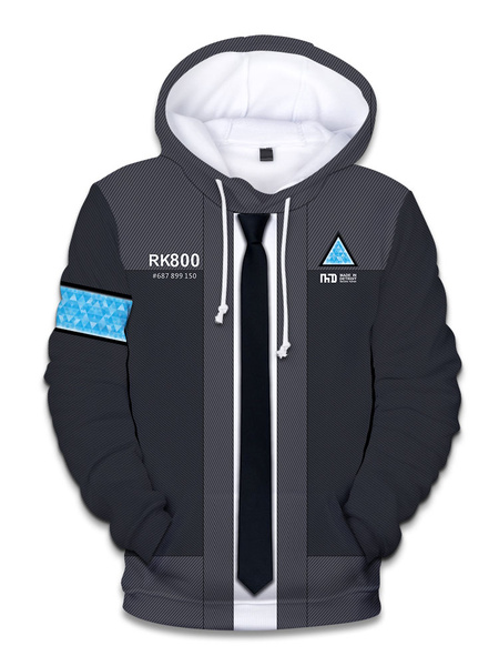 Milanoo Detroit Become Human Connor Halloween Cosplay Hoodie