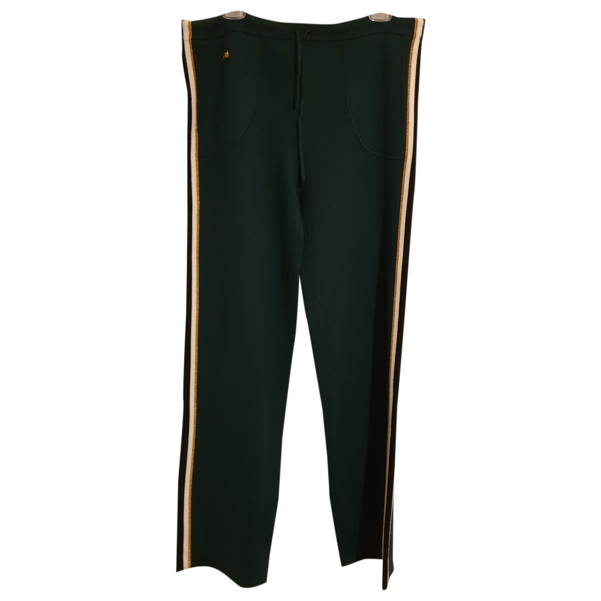 Bella Freud \N Green Wool Trousers for Women XL International