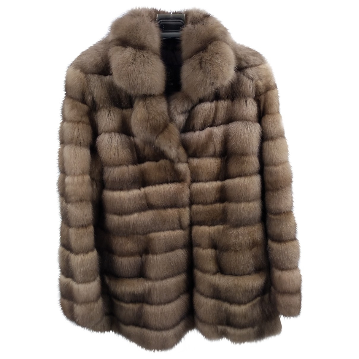 Non Signé / Unsigned \N Brown Fur coat for Women 46 FR