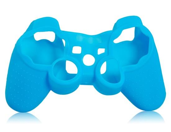 Glow-in-the-Dark Silicone Case for PS3 Controller - Blue