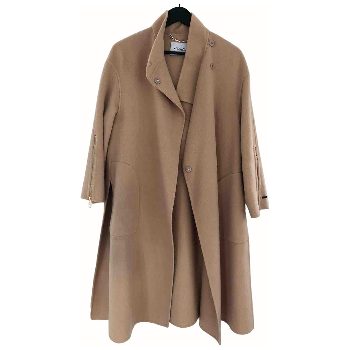 Max & Co \N Beige Wool coat for Women 38 FR