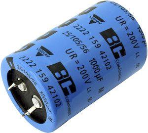 Vishay 2200μF Electrolytic Capacitor 200V dc, Through Hole - MAL225922222E3 (50)