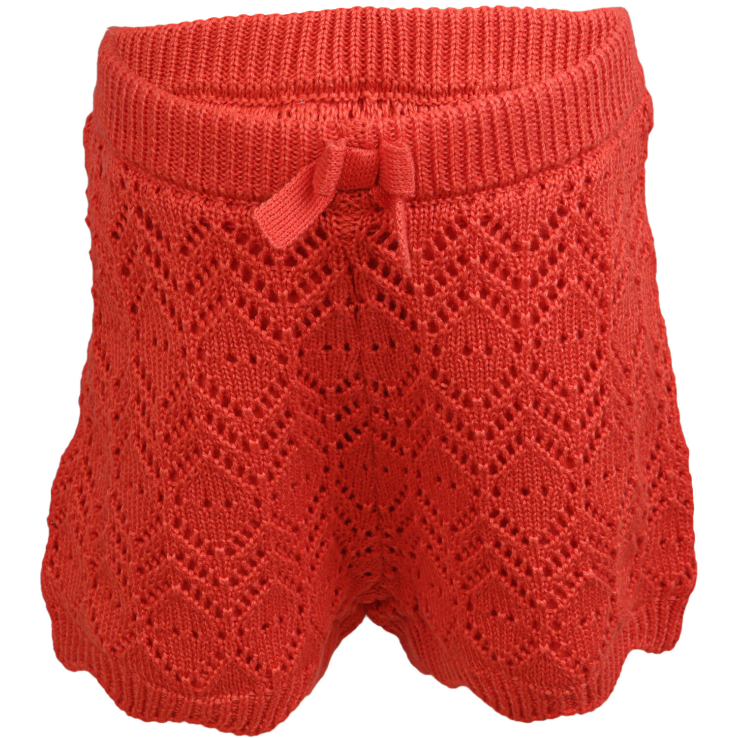Janie And Jack Girl's Tomato Crochet Shorts Short - 18-24 Months
