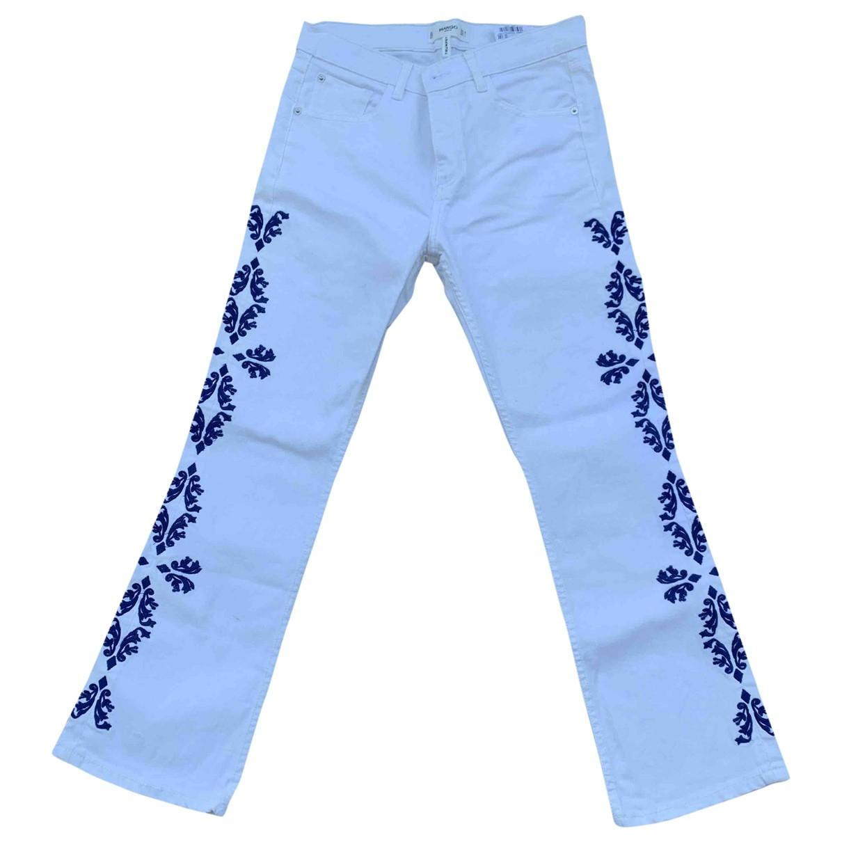 Mango \N White Denim - Jeans Trousers for Women 38 IT