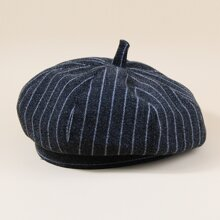 Striped Pattern Beret