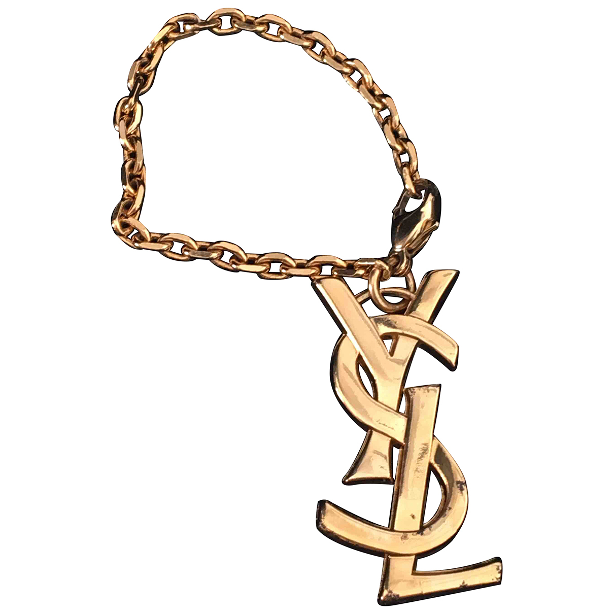 Yves Saint Laurent N Gold Metal Bag charms for Women N