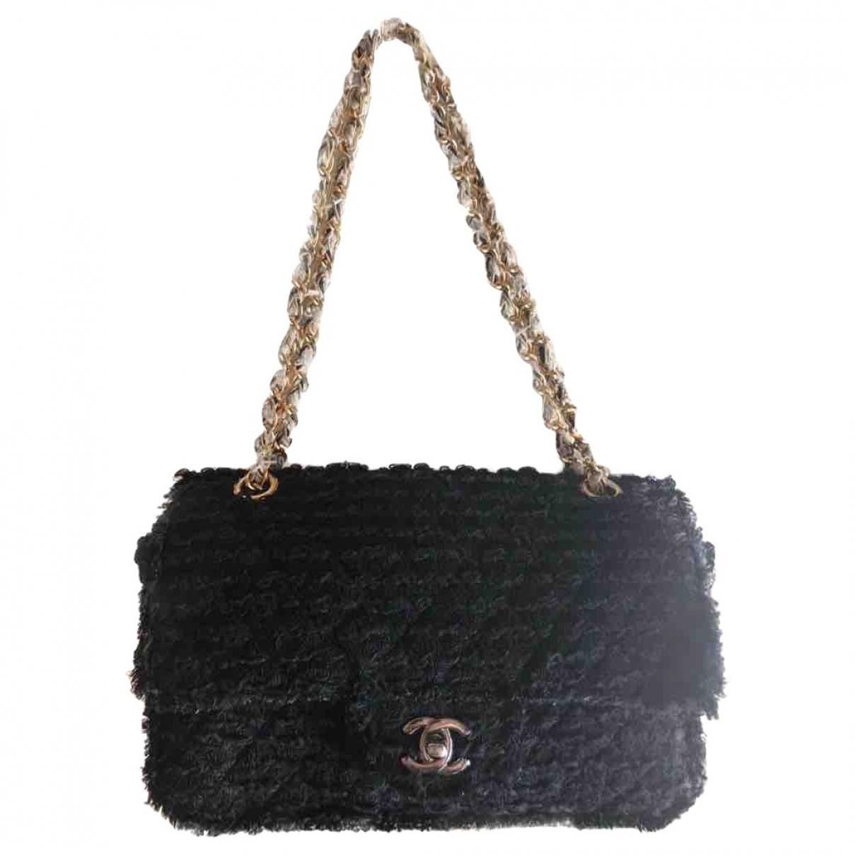 Chanel Timeless/Classique Black Tweed handbag for Women \N