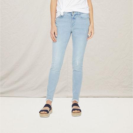 a.n.a Womens High Rise Ripped Skinny Jean, 6 , Blue