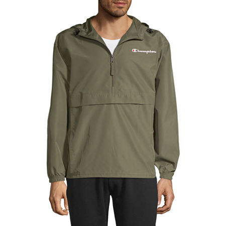 Champion Packable Hooded Lightweight Windbreaker, X-large , Green