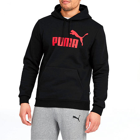 Puma-Big and Tall Mens Long Sleeve Hoodie, 3x-large , Black