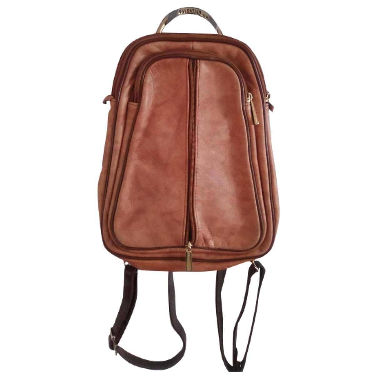 Valentino Di Paolo \N Camel Leather backpack for Women \N