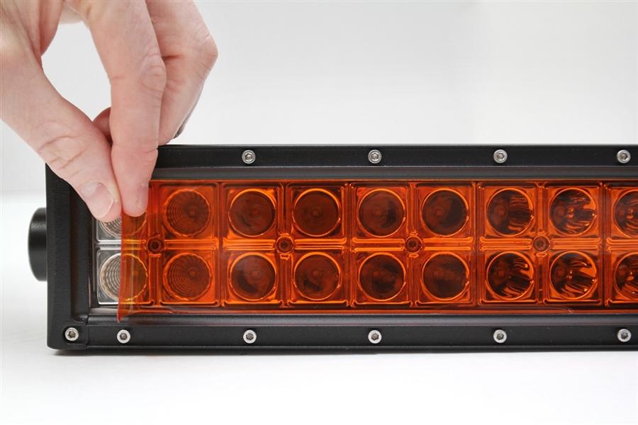 One 2 x 55 Amber Universal LED Light Bar Film Cover Lamin-X 1-255A